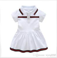 tutus por año al por mayor-Mejor venta del nuevo vestido de verano del bebé 2019 solapa de algodón ropa de bebé recién nacido 9 meses -3 años de edad vestido