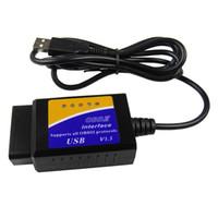 herramienta de diagnóstico opel usb al por mayor-ELM327 USB V1.5 OBD2 Interfaz de Diagnóstico Del Coche Escáner ELM 327 V 1.5 OBDII Herramienta de Diagnóstico ELM-327 OBD 2 Lector de Código Escáner