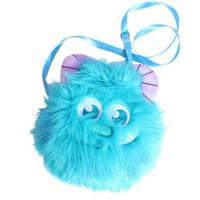 sacs à dos de poupée achat en gros de-Mignon Japon Université Monster Sullivan Plush sac à dos Doux Sac À Bandoulière Mobile Téléphone sacs Porte-Monnaie Animal Poupée Pour Les Filles Cadeau