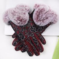 vrais gants de fourrure de lapin achat en gros de-Gants d'hiver pour femmes 2017 Cuir automne elepu gant fourrure de lapin véritable Luvas gants de conducteur mitaines # LRE0