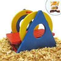 Wholesale toy chinchilla for sale - Hamster Rat Swing Toys Colorful Wooden Swing Toy for Small Animals like Dwarf Hamster and Mouse chinchilla