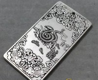Wholesale gold bullion resale online - Old Chinese Zodiac snake tibet Silver Bullion thanka amulet g