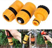 trousses à outils de jardin achat en gros de-3pcs raccord rapide adaptateur raccord de tuyau d'arrosage connecteur de tuyau d'irrigation avec 1/2