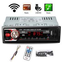 Wholesale mmc slot online - DHL Car DIN V Bluetooth Media Receiver MP3 Player FM Radio USB SD MMC Port AUX Input Slot