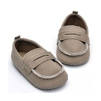 Wholesale Baby Home Shoes - MSMAX Baby Shoes Girls Boys First Walkers Solid Soft Sole Anti-Slip Canvas Slip On Toddler Home Casual Crib Shoes