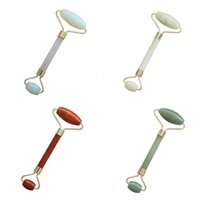 Wholesale green health care online - Natural Tumbled Chakra Roller Massager Grooming Beauty Face Eye Scraping Rod Health Care Device Bardian Exquisite Convenient dx jj