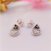 Wholesale European Style Bead Earrings - nbn89 Valentines Day Love Locks Drop Earrings made of 925 Sterling Silver Beads Fit European Pandora Style Jewelry