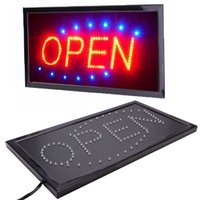Wholesale neon store signs resale online - New Bright Animated Motion Running Neon LED Business Store Shop OPEN Sign with Switch US plug