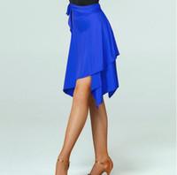 черные латинские юбки оптовых-1шт / серия Женщины Черный Фиолетовый Красный цвет Профессиональный Sumba Танцы Юбка женская латина твердая юбка Qia Qia Latin
