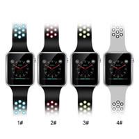 pouces de téléphone à vendre achat en gros de-M3 montre-bracelet intelligente montre intelligente avec 1.54 pouces écran tactile LCD pour Android montre Smart SIM téléphone mobile intelligent avec vente au détail chaude