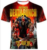 Wholesale death shirts - Five Finger Death Punch Got Your Six 3D Printed Women men's Casual Short Sleeves T-shirt