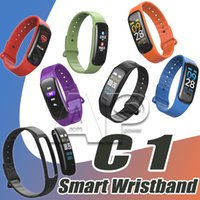 Wholesale daily watch - New C1 Smart Sport Watch Smart Wristbands For Daily Monitoring Heart Rate Check leep Tracker Bracelet With Package