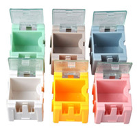 Wholesale electronic parts accessories for sale - Group buy Mini Jewelry Storage Case Multi Color New SMD SMT Electronic Part Box Practical Hot Sale gl4 C