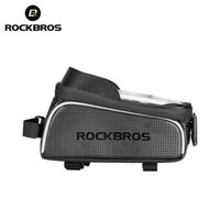 "Wholesale touchscreen case - ROCKBROS MTB Bike Bag 6"" Touchscreen Bicycle Frame Saddle Bag Cycling Top Waterproof Tube Phone Case Bike Accessories"