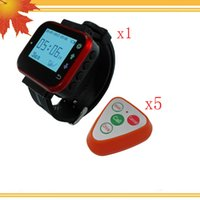 Wholesale Wireless Waiter Call System - Wireless Waiter Calling Buzzer System Fashion Design With Best Price 4Keys Button K-S4 And Wear Watch Pager K-300plus