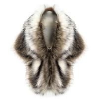 ingrosso ginocchiere d'oro-Nuovo 2018 signore delle donne di lusso della pelliccia del Faux della maglia Cappotto invernale Wharm Spesso elegante di cerimonia nuziale bianco Fur Scialli Capes Giacca H1
