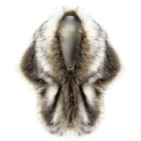 chalecos de invierno para damas al por mayor-Nuevo 2018 Mujeres Señoras de Lujo Faux Fox Fur Chaleco Abrigo Invierno Wick Grueso Elegante Nupcial Boda Blanco Chales de Piel Capes Chaqueta H1