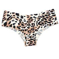 conforto da roupa interior venda por atacado-Novo Leopard Ruffles Sem Costura Conforto Ultra-fino Nenhum traço Mulheres Underwear Cuecas sem costura low-Rise Briefs venda Quente