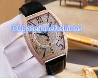 Wholesale white pin needle for sale - Group buy Three needle fully automatic mechanical watch gentleman tide man s wristwatch white and rose gold diamond case luxury Diamond Watches