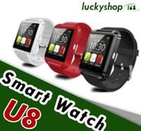 compagnon de téléphone u8 montre intelligente achat en gros de-U8 Montre Smart Watch Bluetooth Mate Phone Watch pour Android Samsung IOS avec la boîte de Retai
