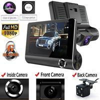 3 Lens 1080P HD 170 Angle Triple lens Car DVR Dash Cam G-sensor Recorder and Rearview Camera Three Way Camera Night vision Cam