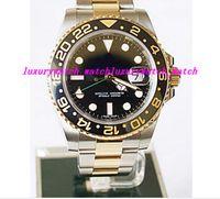 116713 moldura de cerâmica venda por atacado-Relógios de luxo Relógio de Pulso 2 TONE 18 K Pulseira De Aço Inoxidável 116713 40 MM Cerâmica Bezel Relógio Automático Dos Homens do Movimento