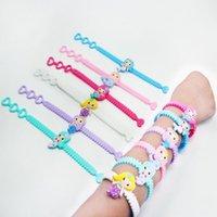 tier armbänder mischen großhandel-Art und Weise reizendes Tiermeerjungfrau-Armband-Manschette scherzt Mischungs-Art-Charme-Partei-Festival-Geschenk PVC-Silikon-Armbänder