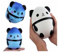 Wholesale simulation animal toys - Kawaii Jumbo Panda Egg Squishy Soft Doll Collectibles Cartoon Super Slow Rising Simulations Cute Squeeze Animals DDA258