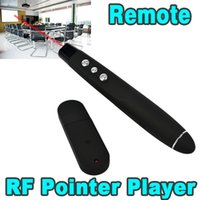 ingrosso usb powerpoint remoto-Presentazione USB Wireless Powerpoint Telecomando RF PPT Presenter Puntatore laser rosso Penna Puntatore laser Presentazione 300 pz