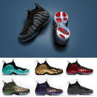 Wholesale shoes basket for sale - 2018 Penny Hardaway Men Basketball Shoes FOAM DARK STUCCO Island Green Eggplant Red Copper Metallic Red Sport Sneaker size