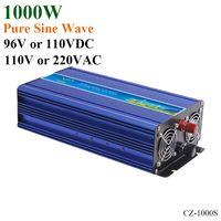 reiner sinuswellen-raster-solar-wechselrichter großhandel-1000W 96V / 110VDC bis 110V / 220VAC Netzunabhängige reine Sinuswelle Einphasen-Solar- oder Wind-Wechselrichter, Surge Power 2000W