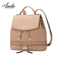 Wholesale backpack popular for sale - Group buy AMELIE GALANTI Ms backpack fashion convenient large capacity Now the most popular style Can be shoulder to shoulder many colors