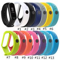 acessórios xiaomi venda por atacado-Nova pulseira para xiaomi mi banda 3 banda inteligente acessórios para xiaomi miband 3 pulseira inteligente cinta local bens de mi banda 3 cinta