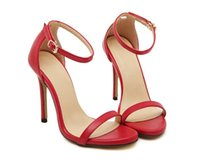 Wholesale Sexy Club Heels - Fashion models with high-heeled sandals solid color sexy night club with bare black gold with a wedding shoes
