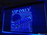 sinal de luz de néon da lua azul venda por atacado-LA806 - VIP Apenas Blue Moon Cerveja LED Neon Light Sign