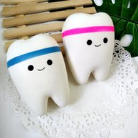 Wholesale blue toy train resale online - PU Tooth Hand Grips Muscle Power Training Stress Reliever Fingers Strength Exerciser Hand Cute cartoon Soft Toy Elastic Grip