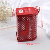 ingrosso scatole bancarie-1 pz Mail Box Contenitore di soldi scatola di caramelle punto rosso Piggy Bank Coin Bank Per Natale regalo di compleanno