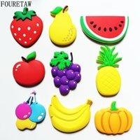 melancia do fruto dos desenhos animados venda por atacado-1 peça dos desenhos animados crianças kawaii frutas banana morango melancia maçã uva pera imãs de geladeira lembrança magnética adesivo tz02