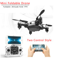 Wholesale mini indoor helicopters resale online - RC Quadcopter Wifi FPV MP Camera LED D Flip CH Mini Drone BNF Helicopter For Indoor Outdoor Toy KY901 VS CX W FSWB