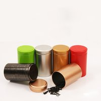 caixa de doces tradicional chinesa venda por atacado-55 * 90mm Tin Box Chá De Café Açúcar Nozes Jar Caixas De Armazenamento De Metal Moedas Doces Jóias Caso Organizador