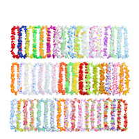 Wholesale jungle room decor resale online - 50Pcs Hawaiian Flower leis Garland Necklace birthday jungle Party event Decor hawaii party decorations Flowers DIY Wreat