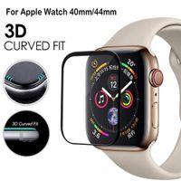 часы оптовых-Новый 3D полное покрытие края точек касания стеклянный для iwatch4 38/40mm42/44мм протектор для Apple серия смотреть 1/2/3/4