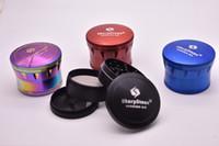 tabakschleifer schicht großhandel-BESTE QUALITÄT regenbogen SharpStone Version 2.0 Herb Grinder 4 Schichten Metall Tabak Rauchen Sharp Stone Grinder Tabakschleifer