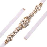 Wholesale Handmade Belts For Dresses - MissRDress handmade bridal dress belt luxurious crystal rhinestones wedding belt bridal party belt bridal sash for gown ys830
