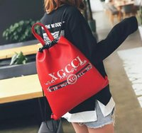 Wholesale young women - New Fashion Men Women Backpack Shoulder Backpacks Male Female Back Casual Young Travel Student For Boys Girls Letter Bags 45CM