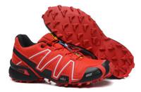 camo sapatos laranja execução venda por atacado-Salomon Speed Cross 3 CS Salomão Speedcross 3 CS Cinza Laranja Ao Ar Livre Masculino Camo Tênis Velocidade Dos Homens Velocidade Cruz 3 Tênis de Corrida Euro 40-46