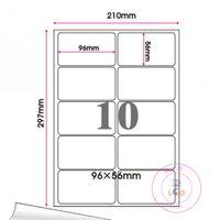 weißes druckerpapier großhandel-Einzelhandel Matte White Round Corner Selbstklebende A4 Kraftpapier Aufkleber Platz Etikettendruck Kopierpapier Für Laser / Tintenstrahldrucker
