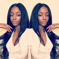 Wholesale brazilian human hair extensions wigs for sale - Group buy Brazilian Virgin Human Hair Wigs Straight Unprocessed Body Wave Lace Front Wigs For Women Remy Human Hair Extensions