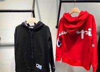 samt marke frauen kleidung großhandel-Designer-Frauen-Strickjacke-Insel-Velvet-Normallack-Marken-Frauen-Mann-Kleidung-neue Ankunfts-Frauen-lange Hülsen-Kapuzenpullis M-3XL, schwarz, rot