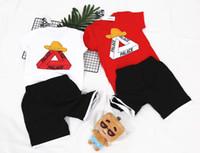 Wholesale Toddler Camouflage Shorts - Summer Children Boy Clothes 2018 new Sets Kids 2pcs Short Sleeves T-Shirt Toddler Suits Camouflage Shorts Child Clothing Suits